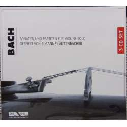 Bach: Sonater & Partitas for soloviolin. Sussanne Lautenbacher. 3 CD. Membran