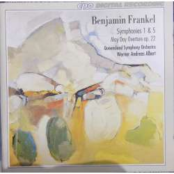 Frankel: Symfoni nr. 1 & 5. Werner Andreas Albert, Queensland SO. 1 CD. CPO