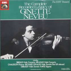 Ginette Neveu: The Complete Recorded Legacy of Ginette Neveu. 4 LP. EMI. RLS 739