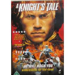 A Knights tale med Heat Ledger, Mark Addy, Rufus Sewell. 1 DVD. Film