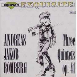 Romberg: 3 Quintets for flute and strings. Op. 41. 1 CD. Trevac