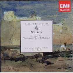 Walton: Symphony no. 1. + Variations on a Theme of Hindemith. Vernon Handley, Bournemouth SO. 1 CD. EMI