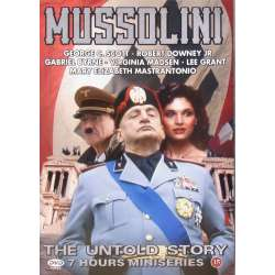Mussolini. The Untold Story. George C. Scott. 7 timers serie, på 2 DVD.