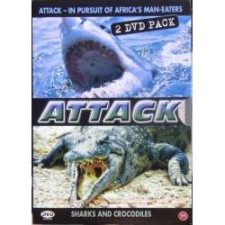Attack. Sharks and Crocodiles. Take care, if you are going til Africa! 2 DVD