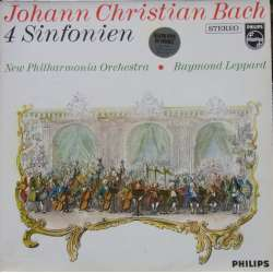 JC. Bach: 4 Sinfonien. New PO. Raymond Leppard. 1 LP. Philips