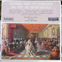Baroque music, Danses, Aris and Marcher. Ensemble Cuivres, Gabriel Masson. 1 LP. Musidisc