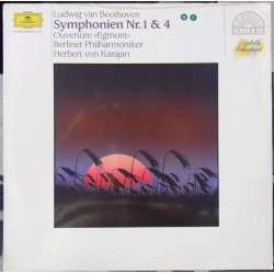 Beethoven: Symphony no. 1 & 4. Herbert von Karajan, Berliner Philharmoniker. 1 LP. DG. New Copy