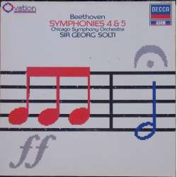 Beethoven: Symfoni nr. 4 & 5. Georg Solti, Chicago SO. 1 LP. Decca. Nyt eksemplar