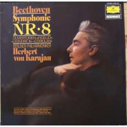 Beethoven: Symphony no. 8. Herbert von Karajan, Berliner Philharmoniker 1 LP DG (1963) New Copy.