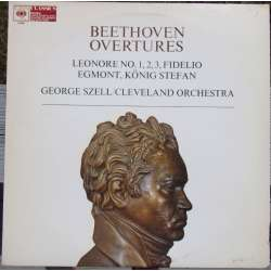Beethoven: Overtures. Leonora nos. 1, 2, 3, Egmont, Fidelio. King Stefan. George Szell, Cleveland Orchestra. 1 LP CBS. 61580