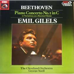 Beethoven: Piano Concerto no. 1. Emil Gilels, George Szell. 1 LP. EMI. SXLP 30540. New Copy