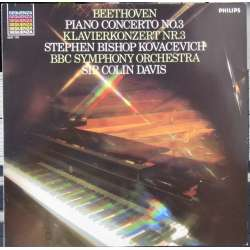 Beethoven: Piano Concerto no. 3. Stephen Bishop Kovacevich. Colin Davis. 1 LP. Philips New copy.