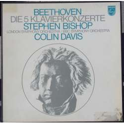 Beethoven: Klaverkoncert nr. 1-5. Steven Bishop Kovacevich, BBC SO. Colin Davis. 4 LP. Philips