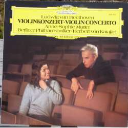 Beethoven: Violin Concerto. Mutter, BPO. Karajan. 1 LP. DG 2531250