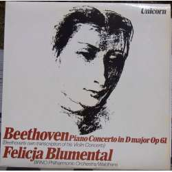 Beethoven: Violin Concerto for Piano and Orchestra. 1 LP.