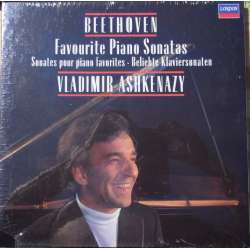 Beethoven: Favourite Piano sonata no. 8. 12. 14. 15. 17. 21. 23. 26. 29. Vladimir Ashkenazy. 4 LP. Decca. New Copy