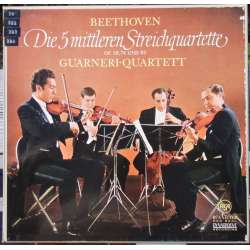 Beethoven: Strygekvartet. Opus 59, 74 & 95. Guarneri Quartet. 4 LP. RCA
