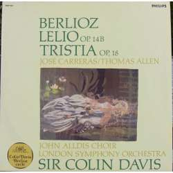 Berlioz: Lelio & Tristia. Carreras, Allen. Colin Davis. 1 LP. Philips. New copy