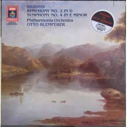 Brahms: Symphony no. 2 & 4. Otto Klemperer, Philharmonia Orchestra. 1 LP. EMI. New Copy