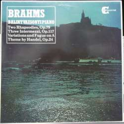 Brahms: 2 Rhapsodies + 3 Intermezzi, Variationer. Balint Vazsonyi. 1 LP. Collector. New Copy