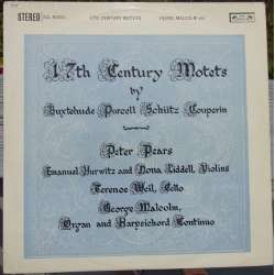 17'th century motets by Buxtehude, Purcell, Schüitz, Couperin. 1 LP. L'oiseau-Lyre
