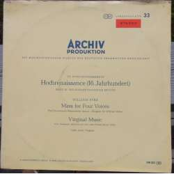 Byrd: Messer for 4 stemmer + Virginal music. Willington Mckie, Choir of Westminster Abbey. 1 LP. Archiv. 198301