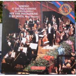 Placido Domingo: At the Philharmonic. Zubin Mehta. 1 LP. CBS. 44942. Nyt eksemplar