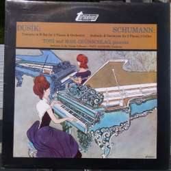 Dusik: Concerto for 2 Pianos. & Schumann: Andante for two pianos. Toni & Rosi Grünschlag, WPO. Angerer. 1 LP. Turnabout
