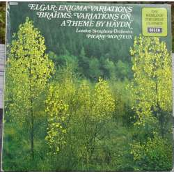 Brahms: Variations on a the by Haydn & Elgar: Enigma Variations. Pierre Monteux, LSO. 1 LP. Decca