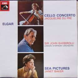 Elgar: Cello Concerto. + Sea Pictures. J. du Pre, Janet Baker, Barbirolli. 1 LP. EMI. ASD 655 New Copy