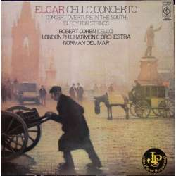 Elgar: Cello Concerto. & Elegy for strings. Robert Cohen, LPO. Normal del Mar. 1 LP. EMI. New Copy