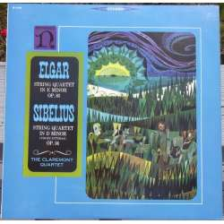 Elgar & Sibelius: String Quartets. The Claremont string Quartet. 1 LP. Nonesuch
