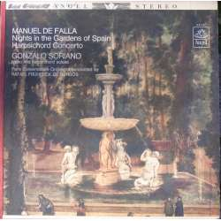 de Falla: Night in gardens of Spain. Soriano, de Burgos. 1 LP. Angel