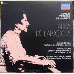de Falla: Nights in the gardens of Spain. & Chopin: Piano Concerto no. 2. Alicia de Larrocha. 1 LP. Decca