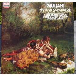 Giuliani: Guitar concertos nos. 1 & 3. Angel Romero. Raymond Leppard. 1 LP. EMI. New copy