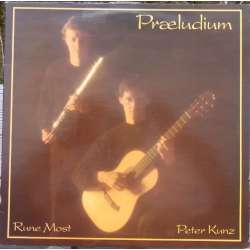 Danish works for flute and guitar. Rune Most, Peter Kunz. 1 LP. Barbarossa. New Copy