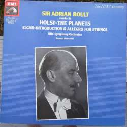 Holst: The Planets. & Elgar: Introduction og allegro for strygere. BBC SO. Adrian Boult. 1 LP. EMI