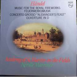Handel: Music for the Royal Fireworks. Neville Marriner. 1 LP. Philips. Nyt eksemplar