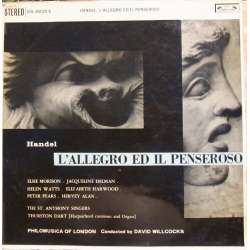 Handel: L'allegro Ed Il Penseroso. David Willcocks, Morrison, Watts, Harwood. 2 LP.