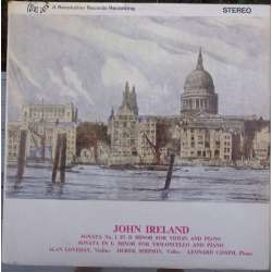 Ireland: Violin sonata no. 1. + Cello sonata no. 1. Loveday, Simpson, Cassini. 1 LP.