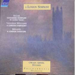 Vaughan-Williams: Symphony no. 2. & Ireland: A London overture. Owain Arwel Hughes, Philharmonia Orch.. 1 LP ASV. New Copy
