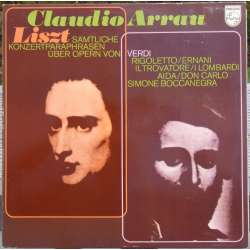 Liszt: Parafraser over Verdis operaer. Claudio Arrau. 1 LP. Philips