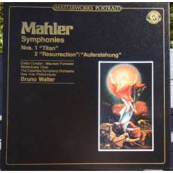 Mahler: Symphonies nos. 1 & 2. Bruno Walter, Columbia SO. 3 LP. CBS. 39635 A Brand new Copy