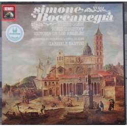 Verdi: Simon Boccanegra. Gobbi, Angeles, Christoff. Santini. 3 LP. EMI