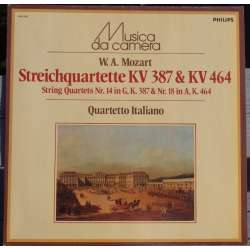 Mozart: String Quartets nos. 14 KV 387 & nr. 18 KV 464. Quartetto Italiano. 1 LP. Philips. New Copy