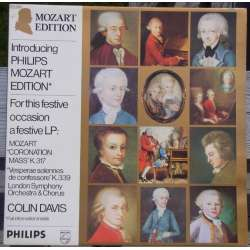 Mozart: Mass in C major, K 317 'Coronation' & Vespera Solenelle. LSO, Colin Davis. 1 LP. Philips