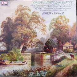 Organ music from King's. Philip Ledger. Bach, Widor, Franck, Liszt. 1 LP. EMI. Nyt eksemplar