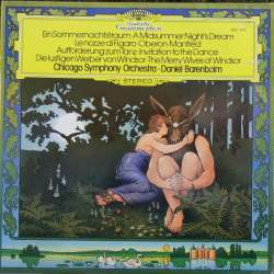 Overtures to: Le Nozze di Figaro, Oberon, Manfred, Invitation to dance. Daniel Barenboim. Chicago SO. 1 LP DG 2531215