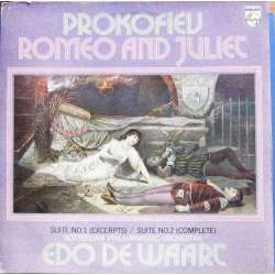 Prokofiev: Romeo and Juliet. Suites 1 & 2. Edo de Waart, Rotterdam PO. 1 LP. Philips 6500640