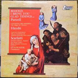 Purcell: Cantinena Pro Adventu & Scarlatti: Christmas cantate. Günter Kehr. 1 LP. Turnabout